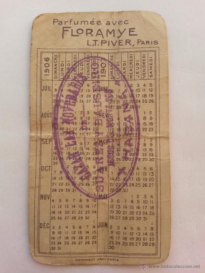 Calendario 1906.Calendario De 1906 De Perfume Con Floramye Paris Por Detras Sellado En La Habana