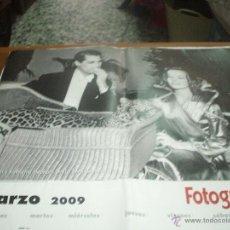 Coleccionismo Calendarios: CALENDARIO FOTOGRAMAS DEL 2009 ,EN CADA MES UNA FOTO DE ACTORES Y ACTRICES AÑOS 50 (VER FOTOS ). Lote 47762572