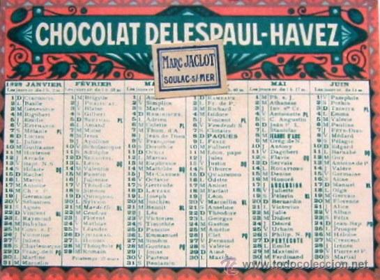 1928 -ANUNCIO DE CHOCOLATE (Coleccionismo - Calendarios)