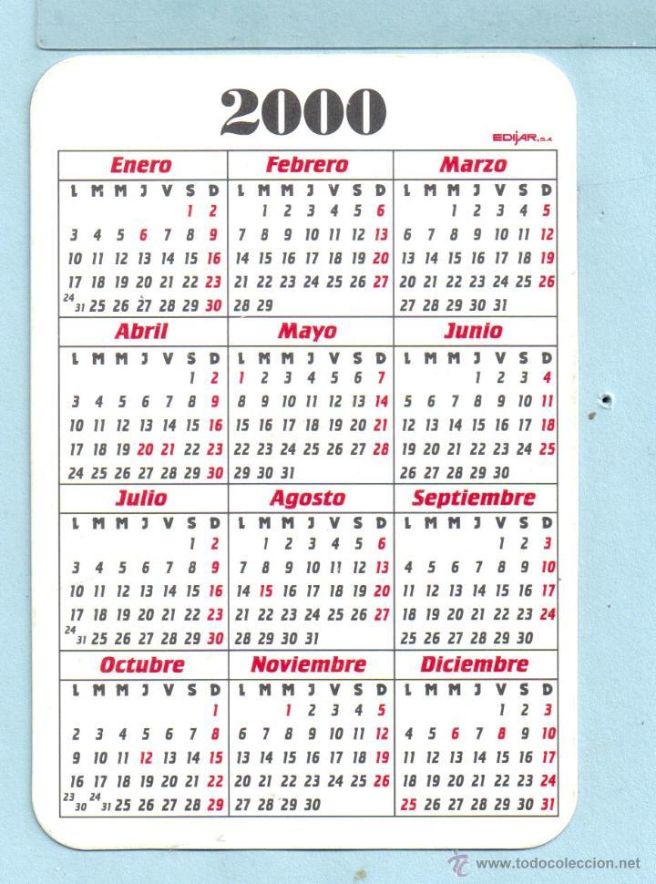 Calendario Del 2000.Calendario De Publicidad Del Ano 2000 De Industrias Canamas En Espanol