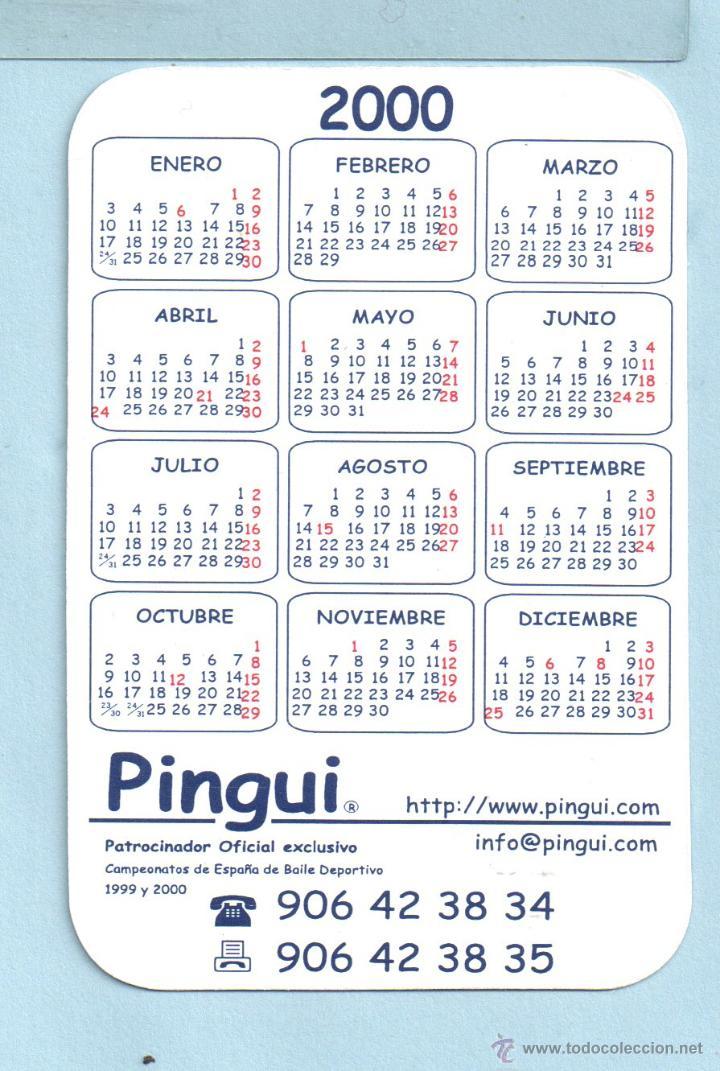 Calendario Del 2000.Calendario De Publicidad Del Ano 2000 De Pingui Sold