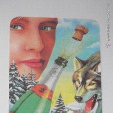 Collezionismo Calendari: CALENDARIO DIBUJO MUJER LOBO NIEVE AÑO 1993 CON PUBLICIDAD CALENDARIOS DIBUJOS PORTUGAL B6. Lote 48345678