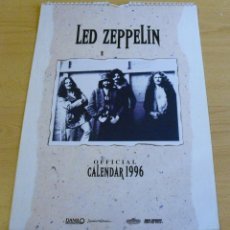Coleccionismo Calendarios: LED ZEPPELIN - OFFICIAL CALENDARIO 1996 (TAMAÑO DIN A3). Lote 48353473