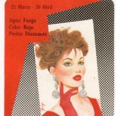 Coleccionismo Calendarios: CALENDARIO DE BOLSILLO DE HORÓSCOPO - ARIES - SERIE BO Nº 5406 - AÑO 1990. Lote 191416705