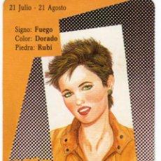 Coleccionismo Calendarios: CALENDARIO DE BOLSILLO DE HORÓSCOPO - LEO - SERIE BO Nº 5410 - AÑO 1990. Lote 191416795