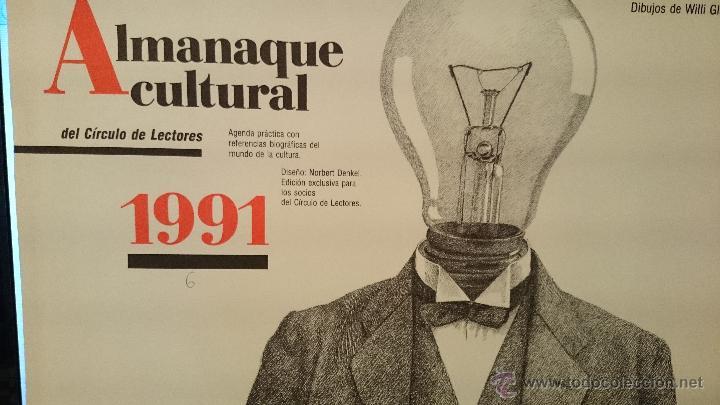 ALMANAQUE-CALENDARIO 1991 CIRCULO DE LECTORES-DIBUJOS DE WILLI GLASAUER- (VER FOTOS) (Coleccionismo - Calendarios)