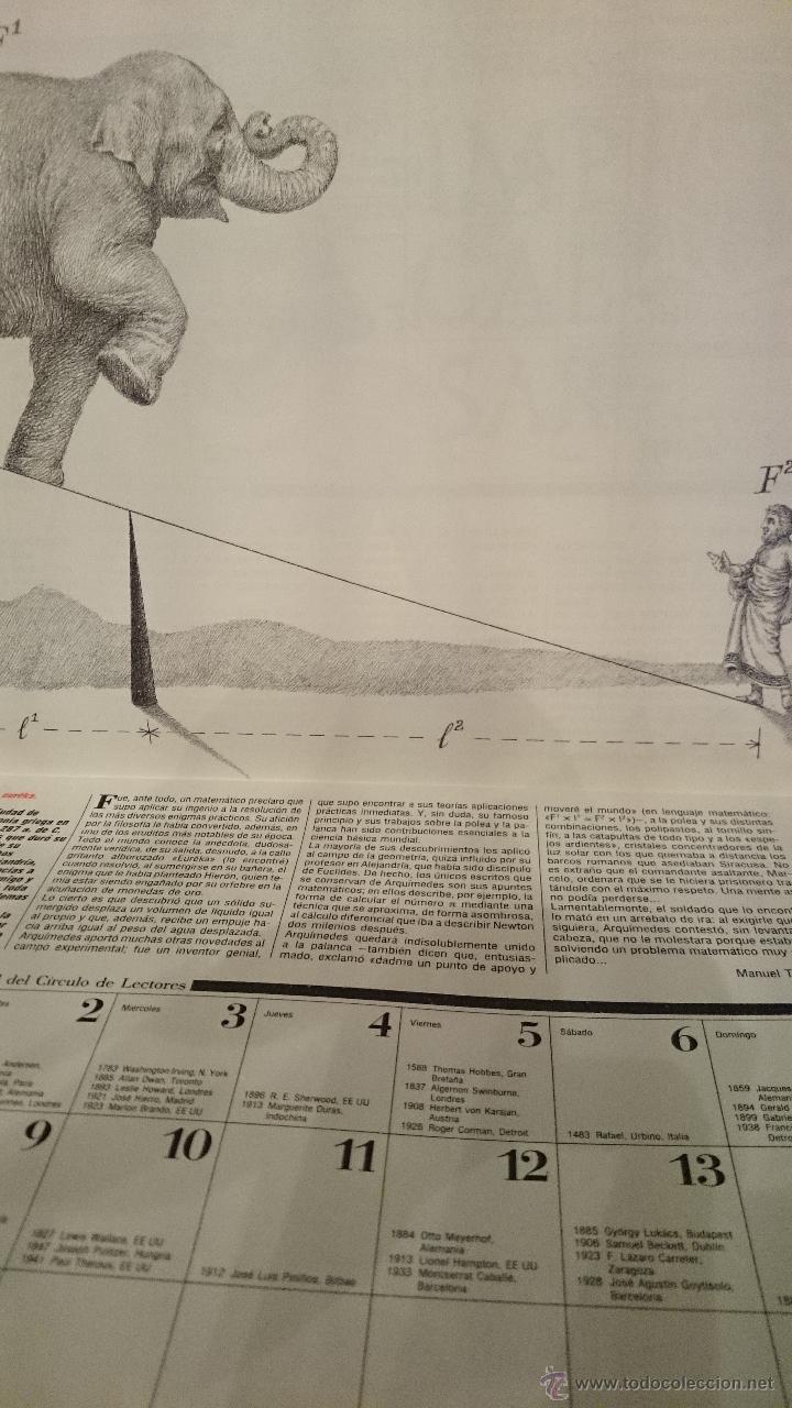 Coleccionismo Calendarios: ALMANAQUE-CALENDARIO 1991 CIRCULO DE LECTORES-DIBUJOS DE WILLI GLASAUER- (VER FOTOS) - Foto 3 - 48403935