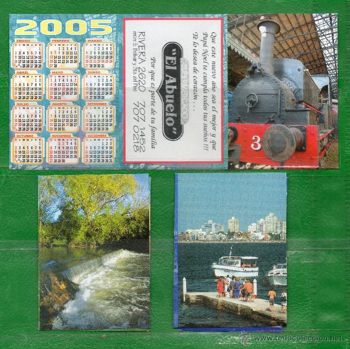 URUGUAY- 3 CALENDARIOS DE LA MISMA EMPRESA (Coleccionismo - Calendarios)