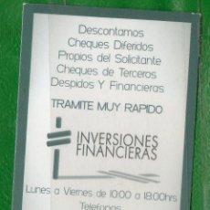 Coleccionismo Calendarios: URUGUAY-2011- 2 CALENDARIOS DISTINTOS -INVERSIONES FINACIERAS . Lote 48409206