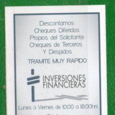 Coleccionismo Calendarios: URUGUAY-2011- CALENDARIOS -INVERSIONES FINACIERAS. Lote 48409215