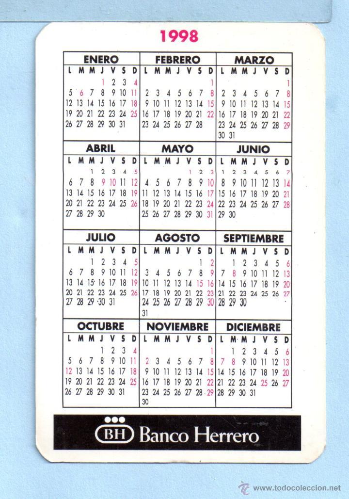1998 Calendario.Calendario De Publicidad De Banco Herrero Del Ano 1998 En Espanol