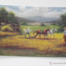 Collezionismo Calendari: CALENDARIO DIBUJO PINTURA HOMBRES CABALLOS AÑO 2008 SIN PUBLICIDAD CALENDARIOS DIBUJOS B7. Lote 51754111