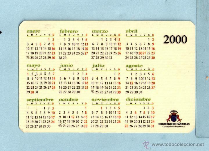 Calendario Julio Del 2000.Calendario Del Ano 2000 Publicidad De La Casa Gobierno De Canarios En Espanol