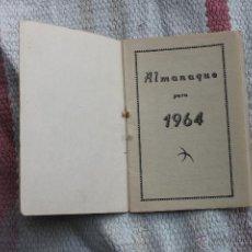 Coleccionismo Calendarios: CALENDARIO ALMANAQUE PARA 1964. Lote 178381073