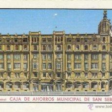 Coleccionismo Calendarios: CALENDARIO FOURNIER - CAJA DE AHORROS MUNICIPAL DE SAN SEBASTIÁN - 1972. Lote 48562608