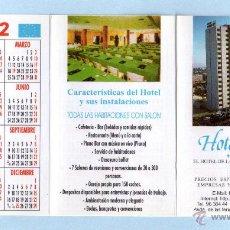 Coleccionismo Calendarios: CALENDARIO DEL AÑO 1999 AL 2002 DE PUBLICIDAD DE HOTEL FERIA VALENCIA EN ESPAÑOL . Lote 48595616