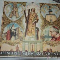 Coleccionismo Calendarios: ANTIGUO FRONTAL DE CALENDARIO VALENCIANO VICENTINO AÑOS 30, CARTON. 23X26 CM -REF3500- -DOCA-. Lote 48876996