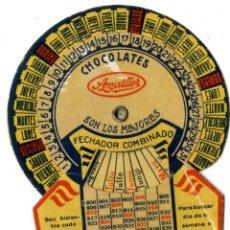 Coleccionismo Calendarios: CHOCOLATE CALENDARIO CHOCOLATES AMATLLER. Lote 48913330