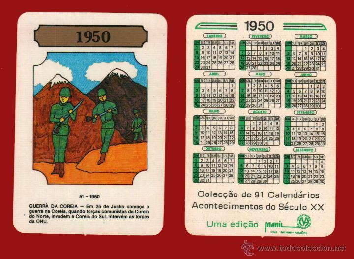 Calendario 1950.Calendario 1950 Acontecimientos Del Siglo Xx E Portugal
