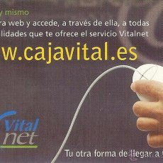 Coleccionismo Calendarios: CALENDARIO FOURNIER - CAJA VITAL - VITAL KUTXA - 2001. Lote 49092694