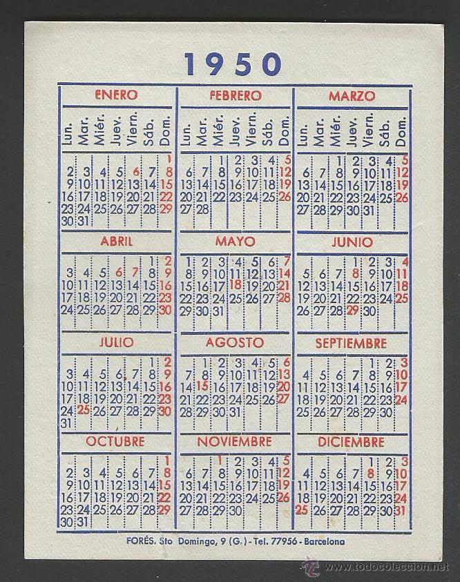 Calendario 1950.Calendario 1950 7 7 X 10 Cm Sold Through Direct Sale