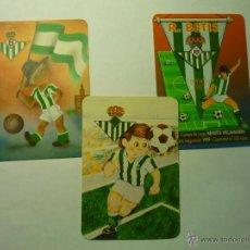Coleccionismo Calendarios: LOTE CALENDARIOS FUTBOL BETIS -1982.1988.1998. Lote 49267701