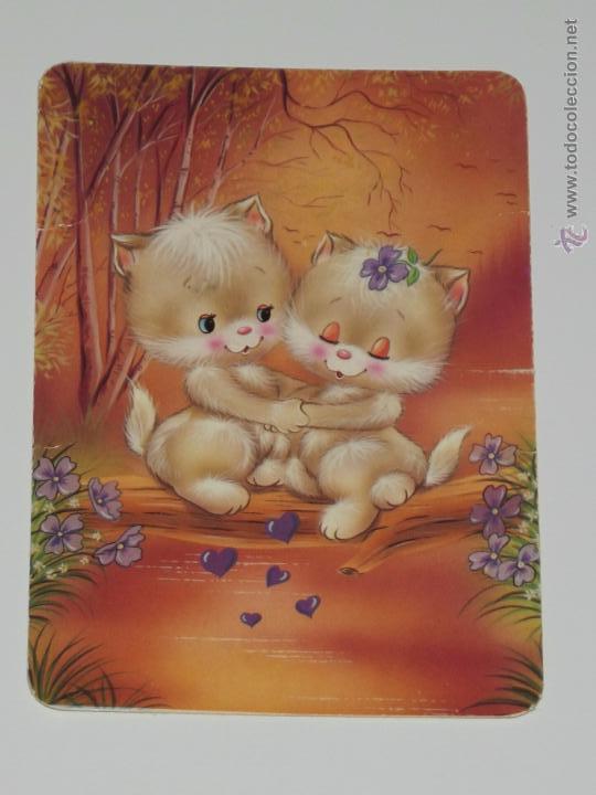 Calendario Dibujo Gatitos Enamorados Año 1995 C Comprar