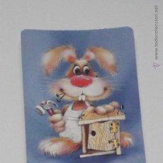 Coleccionismo Calendarios: CALENDARIO DIBUJO PINTURA CONEJO CARPINTERO AÑO 1995 CON PUBLICIDAD PORTUGAL CALENDARIOS DIBUJOS B18. Lote 49344348