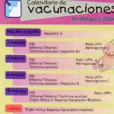Calendario Vacunal Andalucia.Calendario Vacunas Junta Andalucia Ano 2004