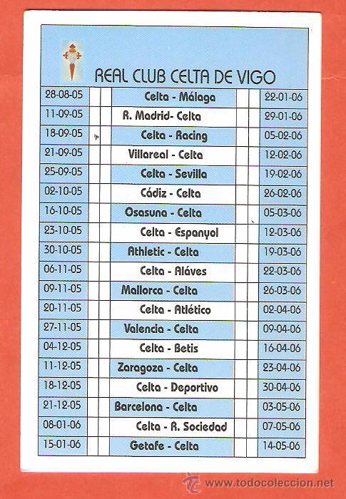 Calendario Celta Vigo.Calendario De Bolsillo Publicitario Del Ano 200 Sold Through