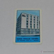 Coleccionismo Calendarios: CALENDARIO H FOURNIER 1963 - BANCO POPULAR ESPAÑOL , BUEN ESTADO. Lote 49413698