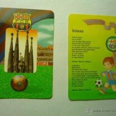 Coleccionismo Calendarios: LOTE CALENDARIOS FUTBOL 1995-1996 BARCELONA CF. Lote 49453091