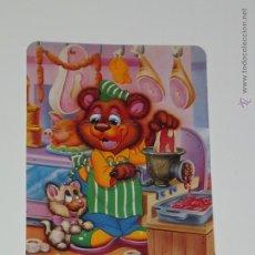 Coleccionismo Calendarios: CALENDARIO DIBUJO OSO CARNICERO GATITO AÑO 1995 SIN PUBLICIDAD SERIE L 260 CALENDARIOS DIBUJOS B21. Lote 49468558