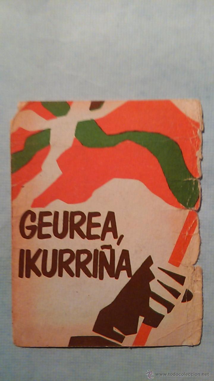 CALENDARIO DE BOLSILLO.POLITICA VASCA.1984.GEUREA IKURRIÑA.HERRI BATASUNA DE ALTAMIRA.BILBO-BILBAO (Coleccionismo - Calendarios)