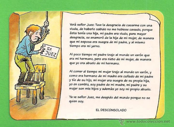 CALENDARIO DE BOLSILLO 1996 - HUMOR - EL DESCONSOLADO - SIN PUBLICIDAD. (Coleccionismo - Calendarios)