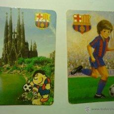 Coleccionismo Calendarios: LOTE CALENDARIOS FUTBOL BARCELONA 1992-1993. Lote 49884489