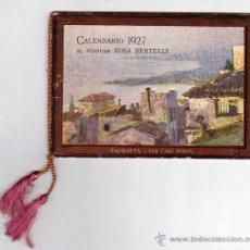 Coleccionismo Calendarios: CALENDARIO DE BOLSILLO 1927. PERFUME ROSA BERTELLI. PERFUMERÍA-FARMACIA. Lote 49990521