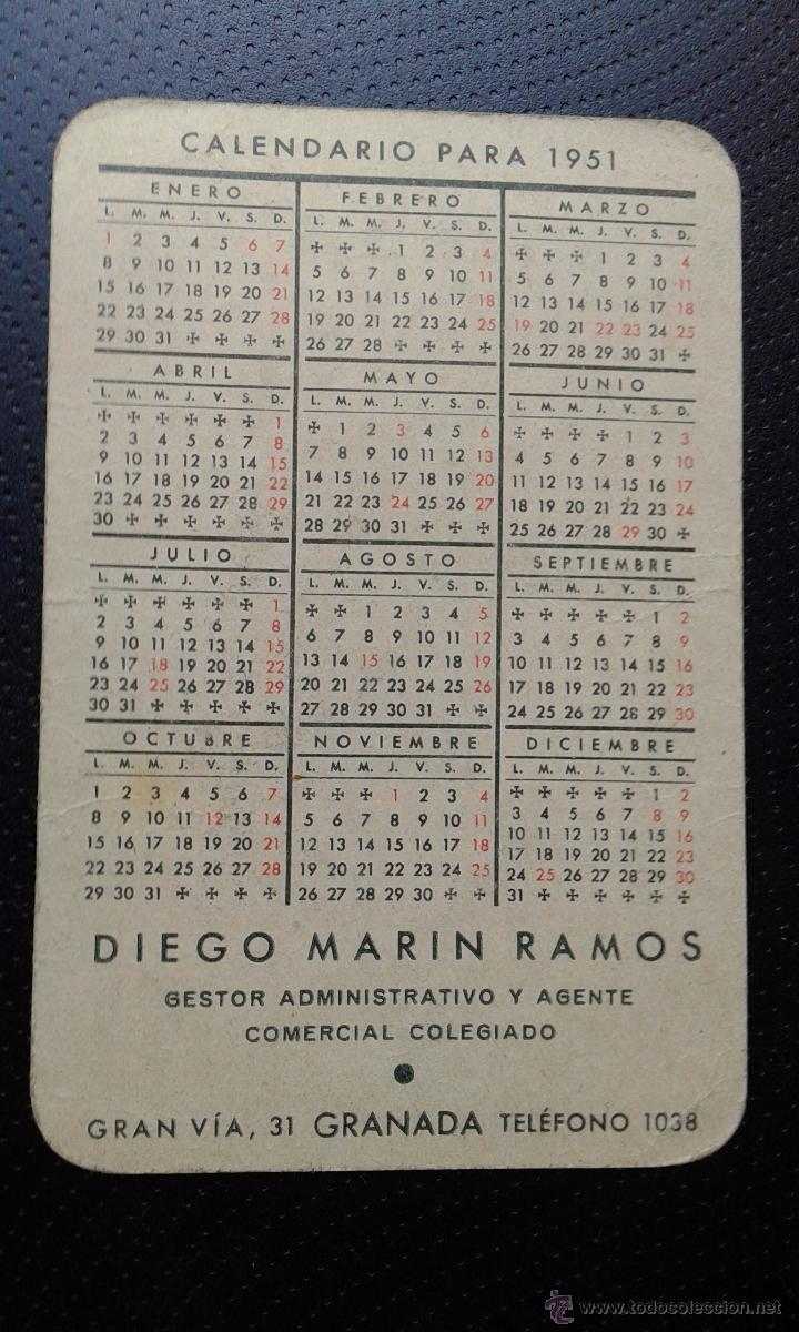 Calendario 1951.Bonito Calendario Ano 1951 Sold Through Direct Sale 50003371