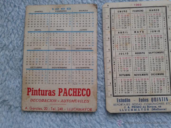 Coleccionismo Calendarios: 2 CALENDARIOS LLUCHMAYOR 1968 1969 - Foto 2 - 50066072