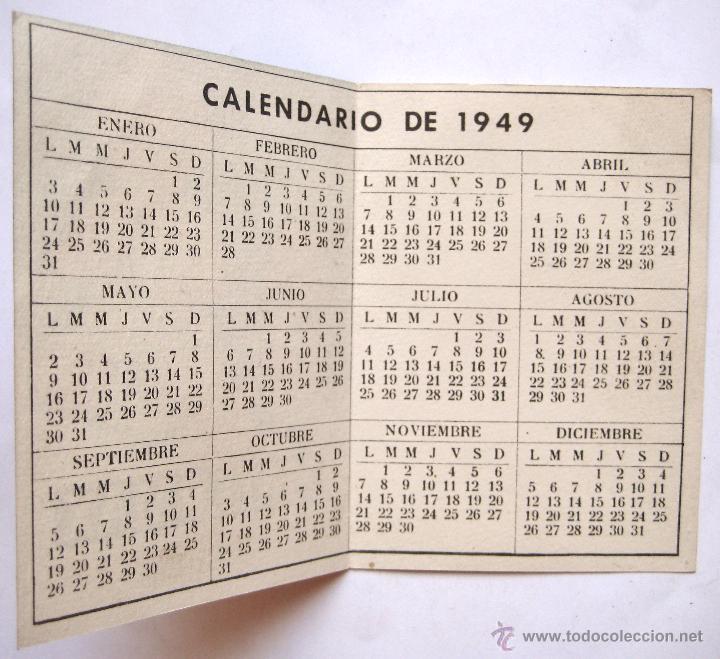Calendario 1949.Calendario Publicidad Leche Maternizada Materma Sold