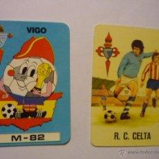 Coleccionismo Calendarios: LOTE CALENDARIOS FUTBOL CELTA.-1975-1982. Lote 50224748