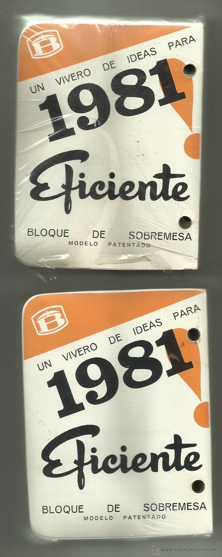 BLOQUE DE SOBREMESA (2) CALENDARIO DE 1981, SIN ESTRENAR. (Coleccionismo - Calendarios)