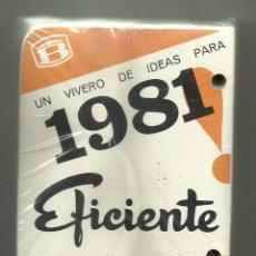 Coleccionismo Calendarios: BLOQUE DE SOBREMESA (2) CALENDARIO DE 1981, SIN ESTRENAR.. Lote 50255011