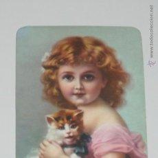 Collezionismo Calendari: CALENDARIO DIBUJO NIÑA CON GATO FOTO ANTIGUA AÑO 1991 CON PUBLICIDAD PORTUGAL CALENDARIOS B33. Lote 51775210