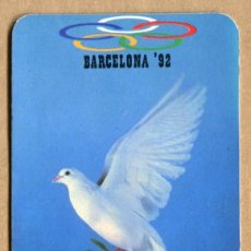 Coleccionismo Calendarios: CALENDARIO PALOMA BARCELONA 1992 - FERMINA, SANTA PERPETUA DE LA MOGODA, BARCELONA 1989. Lote 133414530