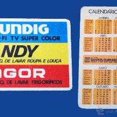 Coleccionismo Calendarios: CALENDARIO BOLSILLO, SERIE PUBLICIDAD, PUBLICADO PORTUGAL, AÑO:1982 - GRUNDIG, CANDY, FAGOR. Lote 50363813