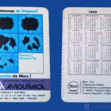 Coleccionismo Calendarios: CALENDARIO BOLSILLO, SERIE PUBLICIDAD, PUBLICADO PORTUGAL, AÑO 1982 - AVIQUIMICA - LISBOA. Lote 50366281