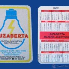 Coleccionismo Calendarios: CALENDARIO BOLSILLO, SERIE PUBLICIDAD, PUBLICADO PORTUGAL, AÑO 1982 - LUZABERTA - LISBOA. Lote 50366334