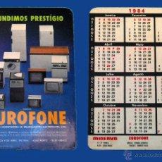 Coleccionismo Calendarios: CALENDARIO SERIE PUBLICIDAD, PUBLICADO PORTUGAL - AÑO:1984 - EUROFONE - PORTO. Lote 50421231