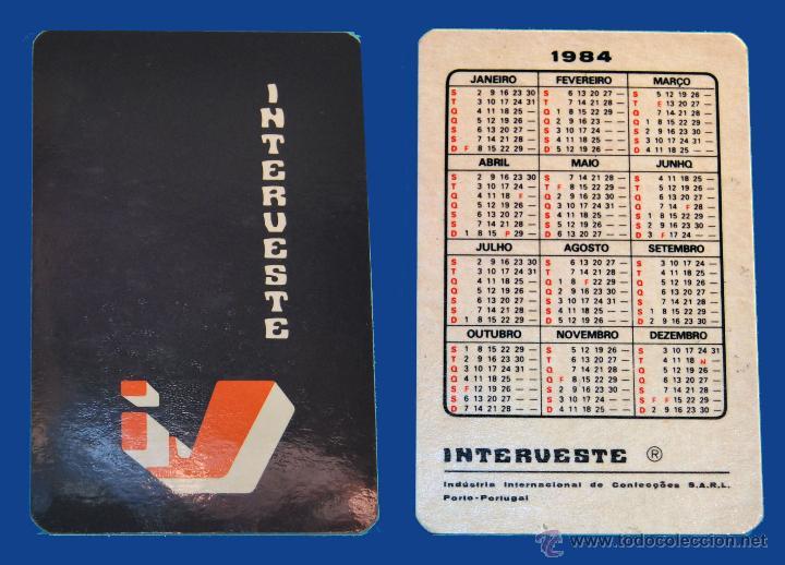 Calendario Seirie A.Calendario Serie Publicidad Publicado Portugal Ano 1984 Interveste
